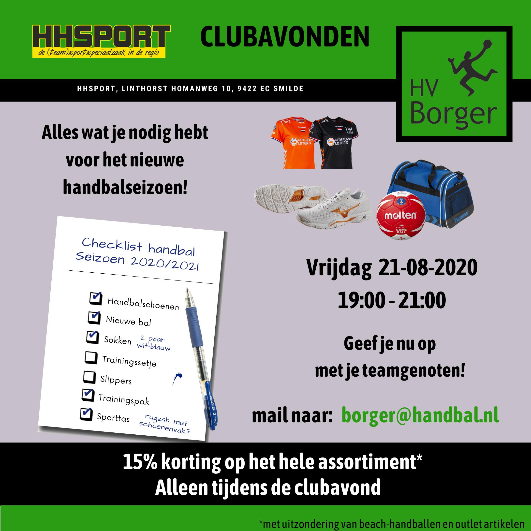 Clubavond HHSPORT